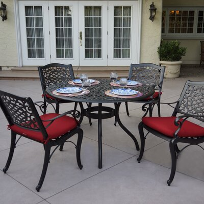Appleby 5 Piece Dining Set With Cushions by Astoria Grand Comparison