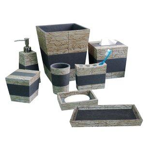 Compare Loeffler Rustic 8 Piece Bathroom Accessory Set ByUnion Rustic