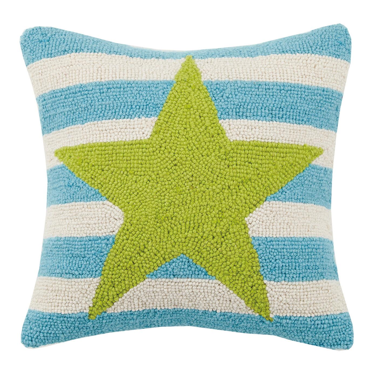 Peking Handicraft Sand Dollars Hook Pillow Turquoise