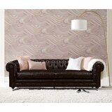 """Amery 91"""" Faux leather Rolled Arm Chesterfield Sofa"""