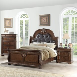 Resendez Upholstered Sleigh Configurable Bedroom Set