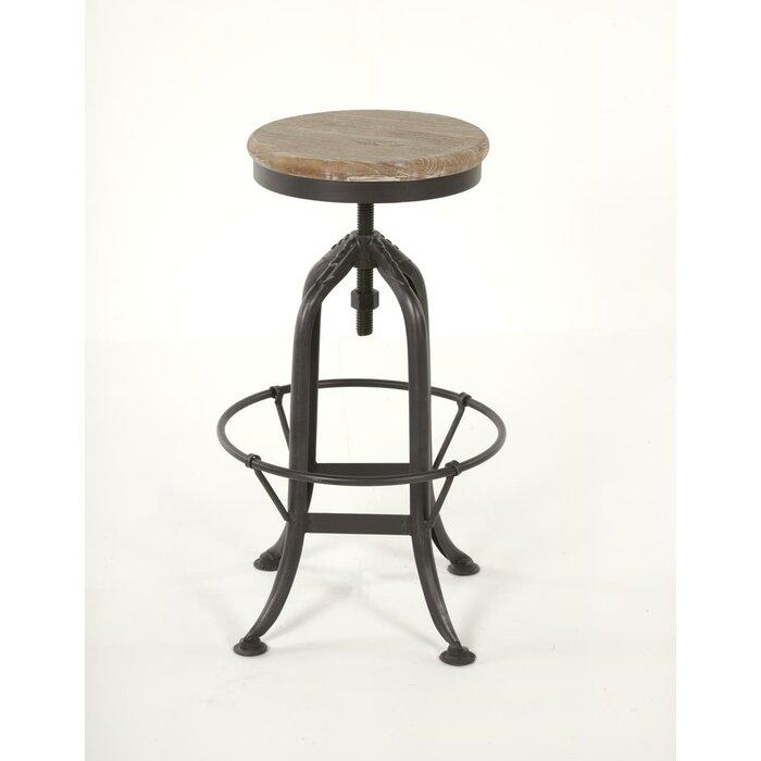 Super Ramsell Iron Adjustable Height Swivel Bar Stool Beatyapartments Chair Design Images Beatyapartmentscom