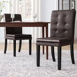 Mayme Leather Side Chair (Set of 2) by Andover Mills™