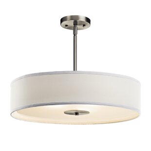 Reviews Mohnton 3-Light Drum Chandelier By Latitude Run