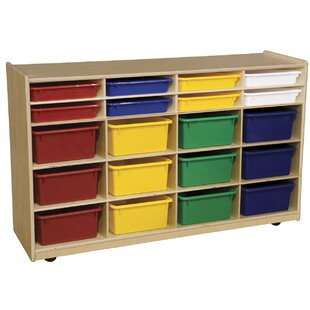 Top Reviews 20 Compartment Cubby with Casters ByWood Designs