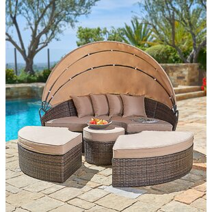 Behling Canopy Patio Daybed with Cushions by Brayden Studio