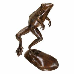 Giant Leaping Spitting Frog Garden Statue