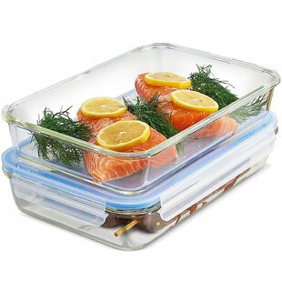 Paloma Glass Casserole Dish 64 Oz. Food Storage Container (Set of 2)