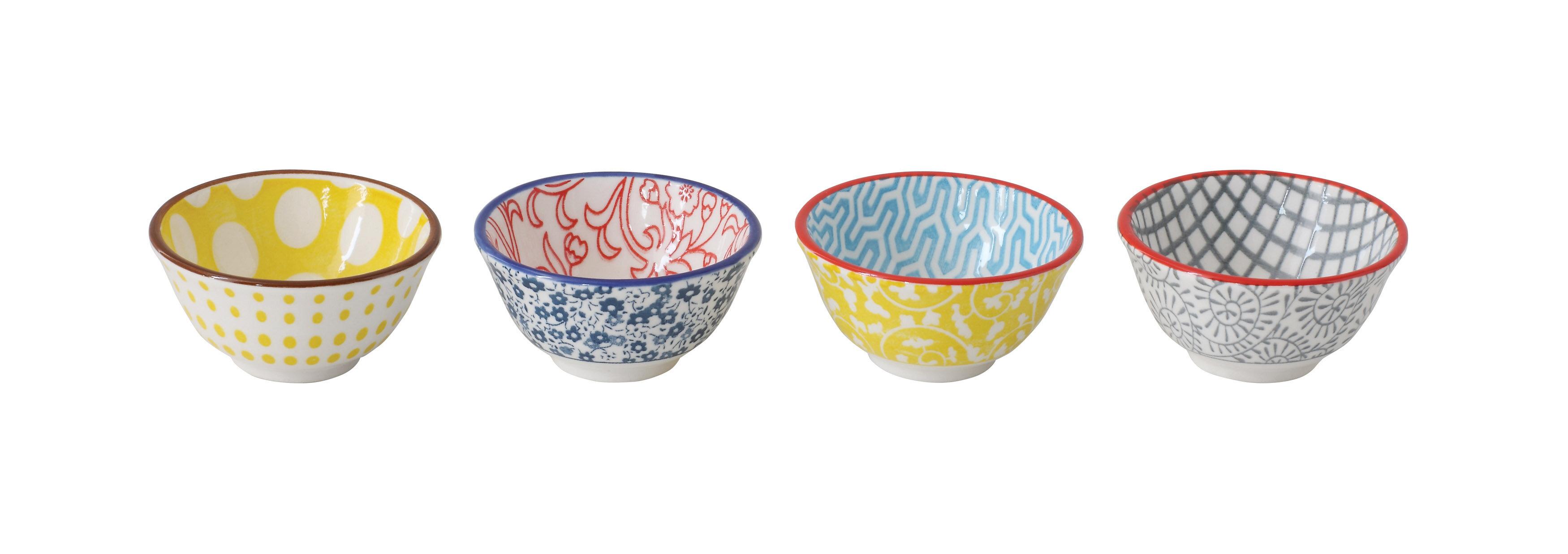 Dakota Fields Bock Decorative Round Hand Stamped 4 Piece Condiment Server Set Reviews Wayfair