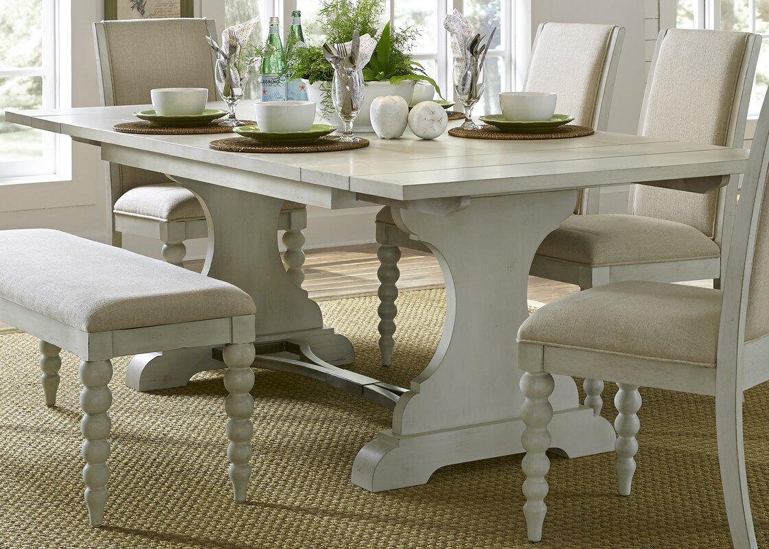 Lark Manor Saguenay Trestle Dining Table & Reviews | Wayfair