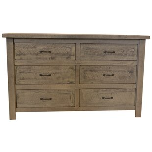 Premium Frontier 6 Drawer Double Dresser