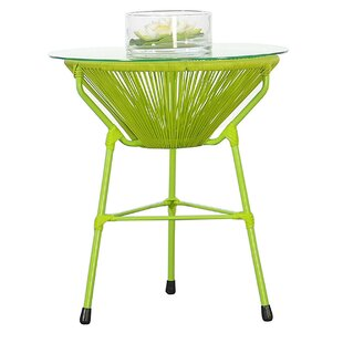 Glass Side Table by Beachcrest Home