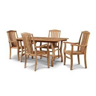 Ballinger Teak 5 Piece Dining Set