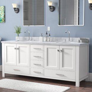 Buy luxury Utley 73 Double Bathroom Vanity Set ByAndover Mills