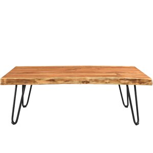 Kourtney Sustainable Live Edge Acacia Coffee Table by Union Rustic