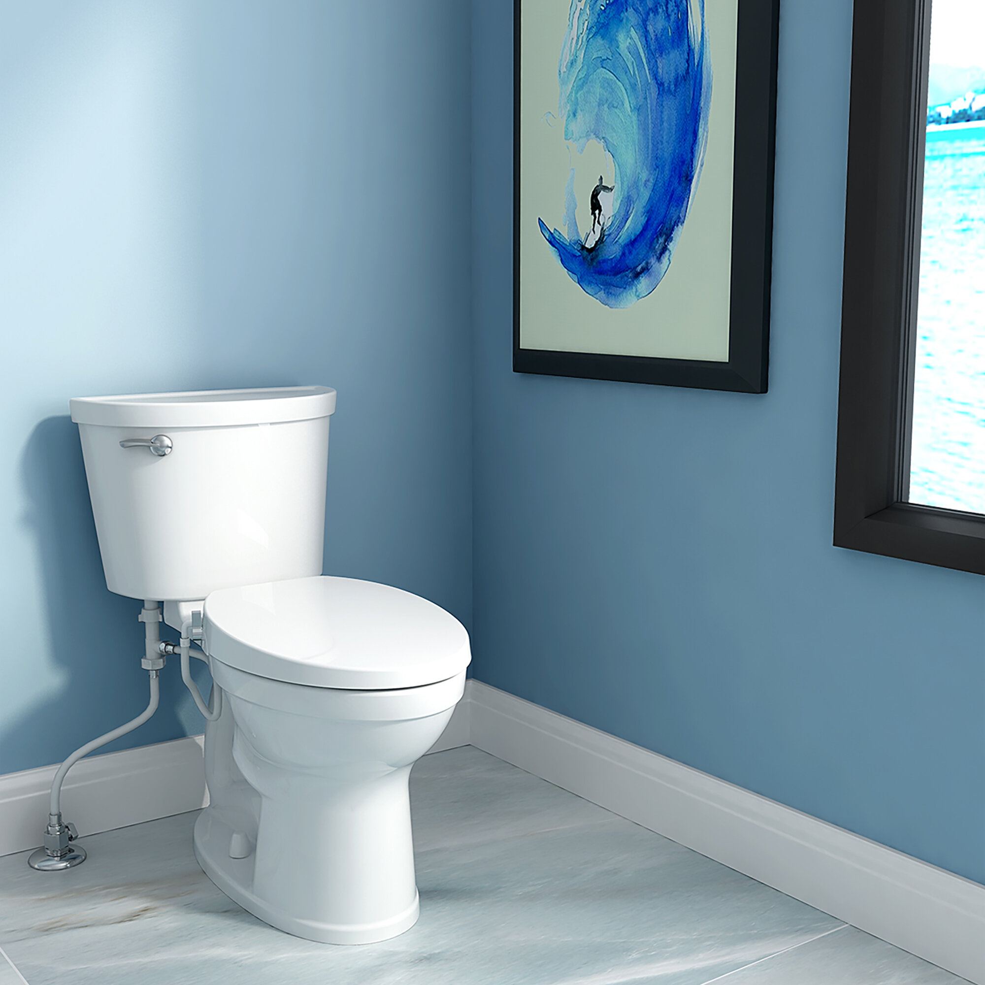 American Standard AquaWash Non-Electric Bidet Elongated Toilet Seat ...