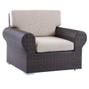 Peachy Tripp Outdoor Patio Chair With Cushions Reviews Joss Main Download Free Architecture Designs Jebrpmadebymaigaardcom