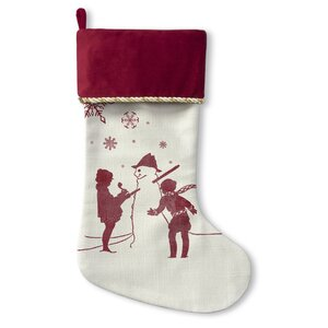 Lets Build A Snowman Christmas Stocking