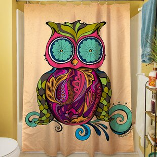 Owl Branch Gregir Single Shower Curtain