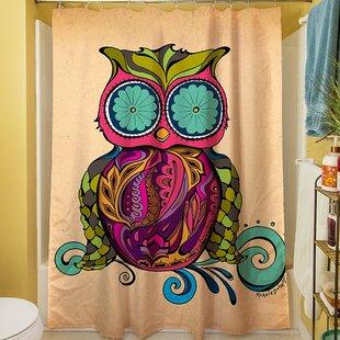 Owl Branch Gregir Single Shower Curtain