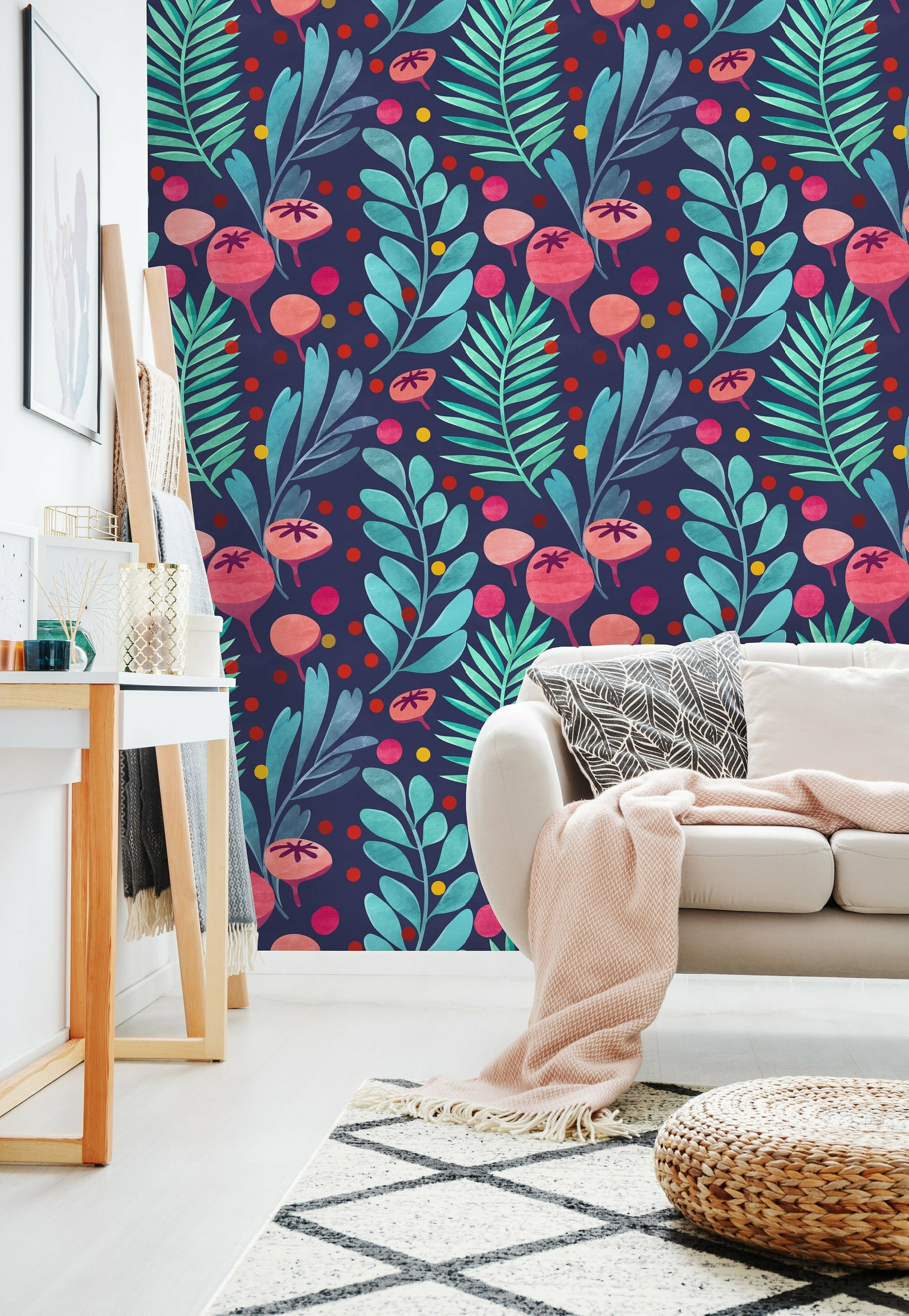 Uniqstiq Watercolor Colorful Tropical Mix Paintable Wall Mural Wayfair