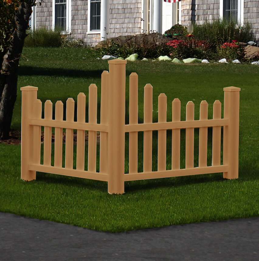 H X 4 Ft W Country Fence Panel