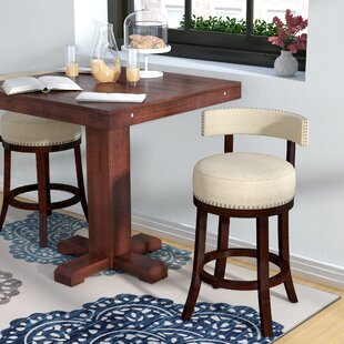 Norden Contemporary 25 Swivel Bar Stool (Set of 2) Andover Mills