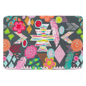 Aztec Boho Tropical by Anneline Sophia Bath Mat