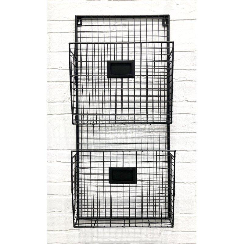 Gracie Oaks Berkman 2 Pocket Wall Storage Organizer With Mail Storage Reviews Wayfair