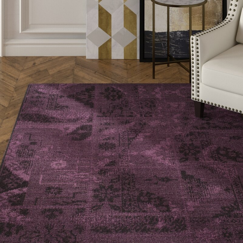 Chipping Ongar Black Purple Area Rug