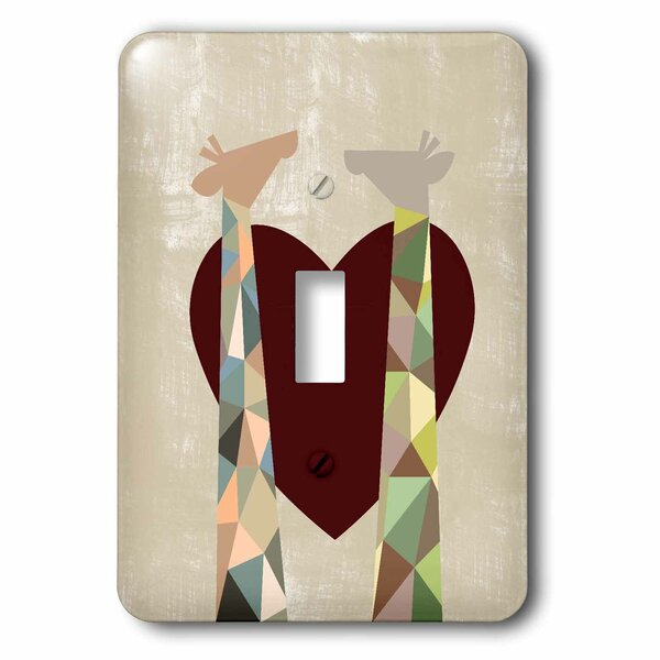 3drose Two Giraffes With Heart 1 Gang Toggle Light Switch Wall Plate Wayfair
