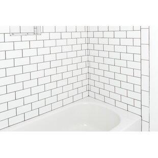 Nantucket 3 X 6 Ceramic Subway Tile In Gloss Ice White