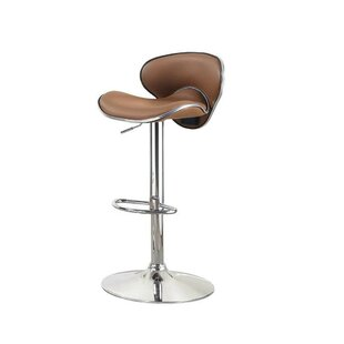 Mereworth Adjustable Height Bar Stool by Orren Ellis