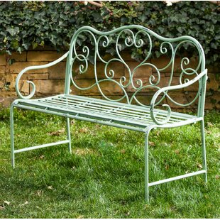 Garry Scroll Metal Garden Bench