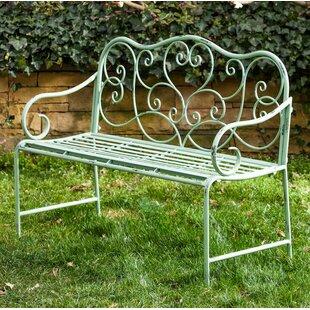 Garry Scroll Metal Garden Bench