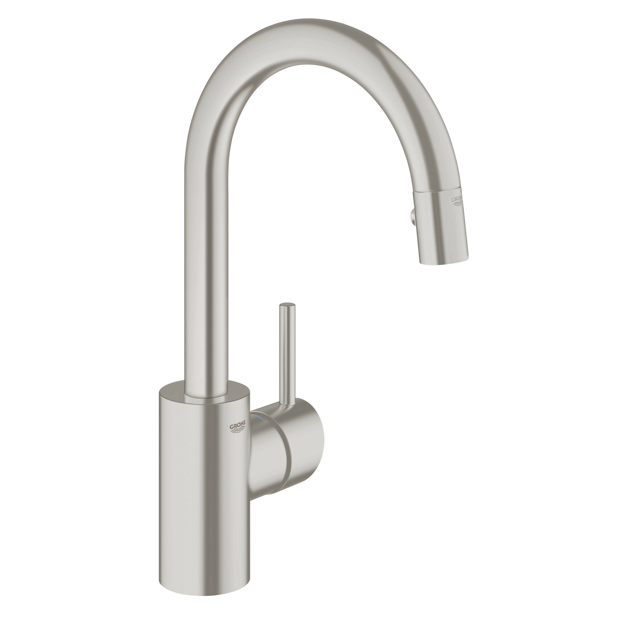 31479000 Concetto Single Handle Kitchen Faucet With Pull Out Spray And Silkmove
