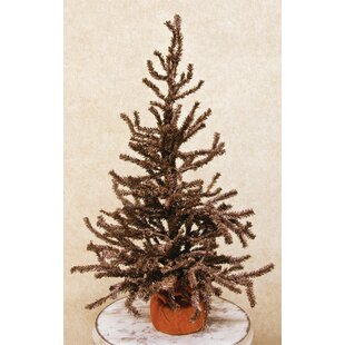 brown pine artificial christmas tree with burlap base - Rustic Artificial Christmas Tree