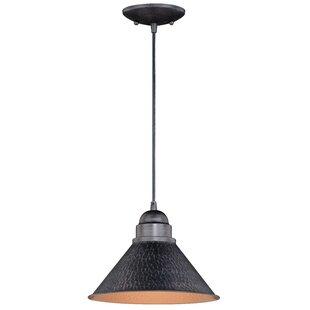Price comparison Zuleika 1-Light Outdoor Pendant By Laurel Foundry Modern Farmhouse
