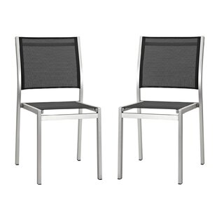 Coline Stacking Patio Dining Chair (Set Of 2) by Orren Ellis Discount