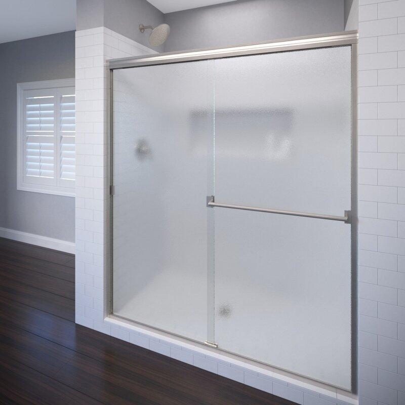 Basco Classic 60 X 70 Bypass Semi Frameless Shower Door