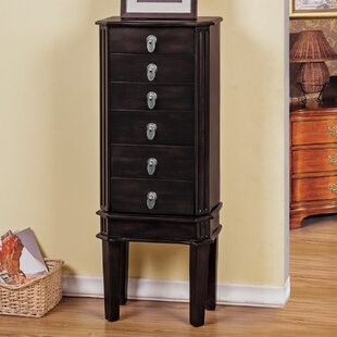 Read Reviews Bedford Jewelry Armoire with Mirror ByBest Desu, Inc.