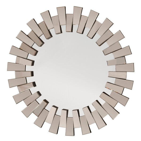 Round Wall Mirrors osp designs decorative round wall mirror & reviews | wayfair