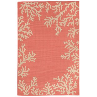 Claycomb Hand-Tufted Orange Indoor/Outdoor Area Rug
