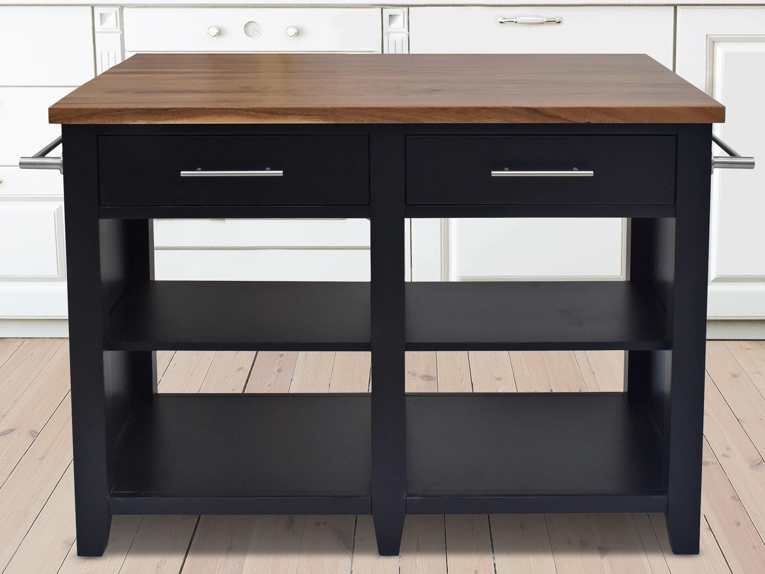 Katheryn Counter Kitchen Island Solid Wood