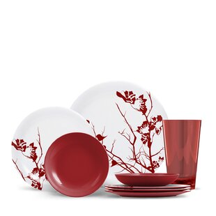Jon 16 Piece Melamine Dinnerware Set
