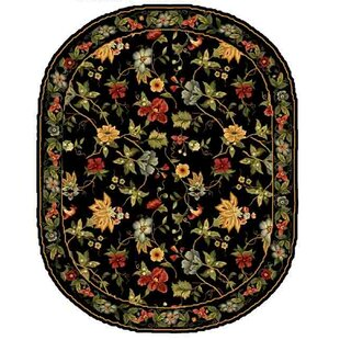 Searching for Helena Black/Sage Hooked Wool Area Rug ByCharlton Home