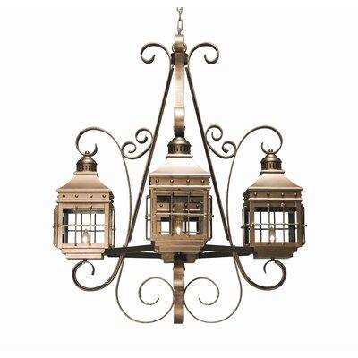 Siro 4-Light Shaded Chandelier 2nd Ave Design Finish: Tuscan Ivory, Acrylic: Lapis Blue