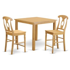 Cafe 3 Piece Counter Height Pub Table Set..