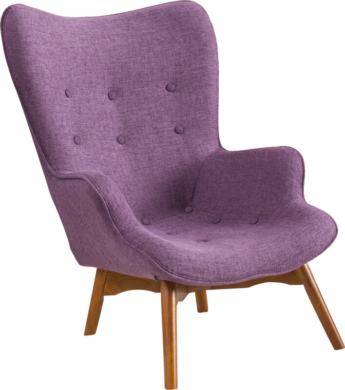 Canyon Vista Mid Century Wingback Chair