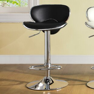 Agrippa Adjustable Height Swivel Bar Stool (Set of 2) Orren Ellis